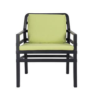 NARDI ARIA 扶手椅+座墊  深灰+青綠色