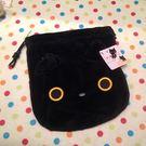 【發現。好貨】SAN-X Rilakkuma 靴下貓小襪貓襪子貓臉型 絨毛束口袋收納袋零錢包