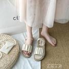 兩穿夏天涼鞋仙女風ins潮2020年新款夏季時尚學生百搭平底鞋 米娜小鋪