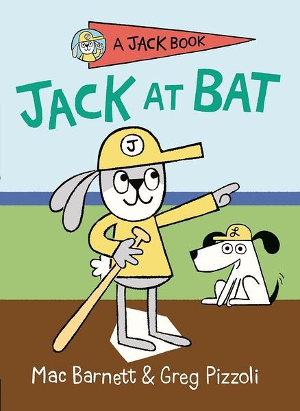 【英文讀本.橋梁書】JACK AT BAT/JACK BOOK by Greg Pizzoli 《主題: 棒球.幽默.初階讀本.獨立閱讀》