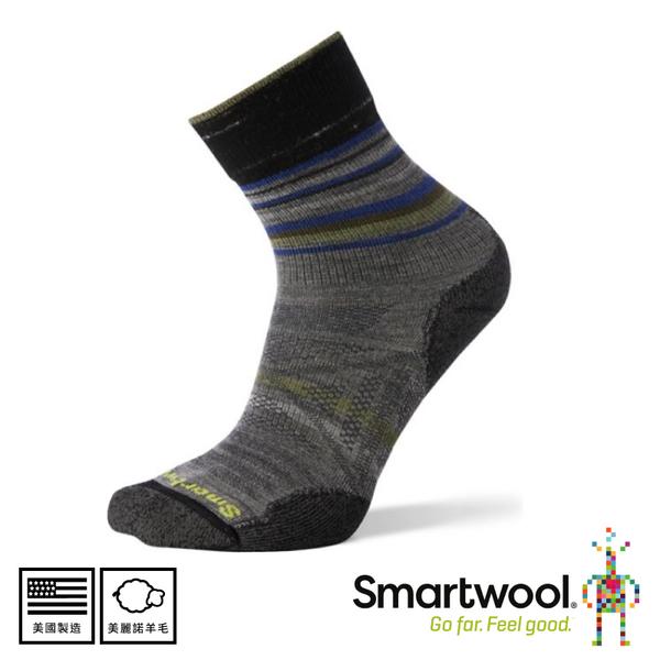 【SmartWool 美國 男 Phd戶外輕量減震印花中筒襪 《中性灰》】SW001148/排汗襪/戶外襪/機能襪/健行