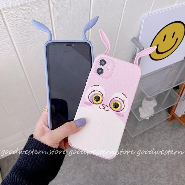 立體萌兔|紅米Note10 5G Note10S Note9T 紅米9T 紅米Note8Pro 防摔小羊皮 手機殼 掛繩孔 保護套 可愛