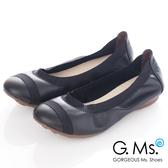 G.Ms.* MIT系列-織帶拼接羊皮娃娃鞋*優雅黑