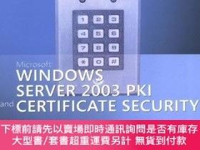 二手書博民逛書店Microsoft罕見Windows Server 2003 Pki And Certificate Securi