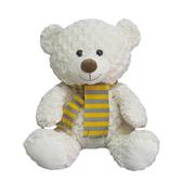 獨家品牌animal alley寵物王國 15.5吋領結小白熊