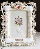 618好康鉅惠 6寸歐式復古田園玫瑰相片框結婚照片框