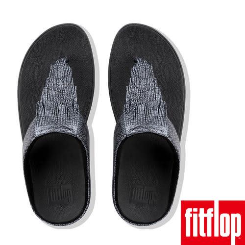【FitFlop】CHA CHA FRINGE LEATHER TOE-THONGS(黑色)