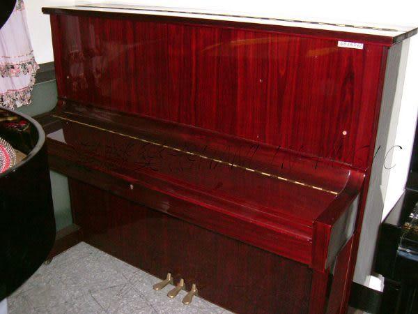 【HLIN漢麟樂器】-日本原裝kawai河合123號直立式中古二手鋼琴-原木-亮黑-豪華22