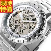 機械錶-熱銷明星同款設計男手錶2色5j76【巴黎精品】