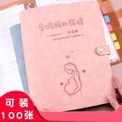 文件夾 孕檢報告單收納冊可愛孕媽媽孕期活頁便攜B超懷孕婦檢查孕期產檢檔案冊報告單子收集資