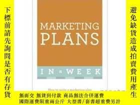 二手書博民逛書店Marketing罕見Plans in a Week-一周內的營銷計劃Y465786 Ros Jay Teac