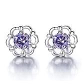 新品女耳釘 新品花朵韓國版花兒說耳釘 鍍銀耳飾品《小師妹》ps447