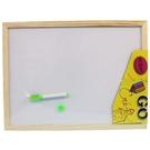 實木框小白板 磁性小白板 30cm x 40cm/一個入(促120)-AA6394