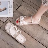 平底涼鞋夏天溫柔配裙子涼鞋仙女風潮夏季學生百搭平底沙灘