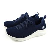SKECHERS STRETCH FIT 休閒運動鞋 女鞋 深藍色 寬楦 13356WNVY no091