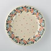 波蘭陶 桃花源系列 圓形深餐盤 26cm 波蘭手工製