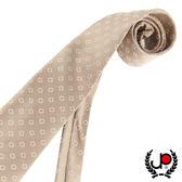極品西服 復古花點淡金色絲質領帶 (YT0018)
