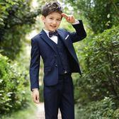 兒童西裝套裝花童禮服韓版男童西服外套小男孩鋼琴演出小孩三件套