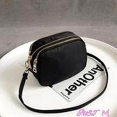 迷你包抖音手機包女2021新款潮韓版百搭斜背包零錢包簡約帆布迷你小包包 JUST M