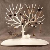 創意鹿角樹形項鏈展示架掛鑰匙耳飾手鐲首飾收納盒飾品耳環收納架 酷男精品館