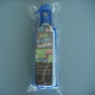 寵物掛式外出水壺(500ml-藍色)/寵物用品