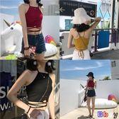 【Bbay】女韓版綁帶內搭小背心(3色)小吊帶外穿露臍短款修身顯瘦小背心上衣【SX1217】