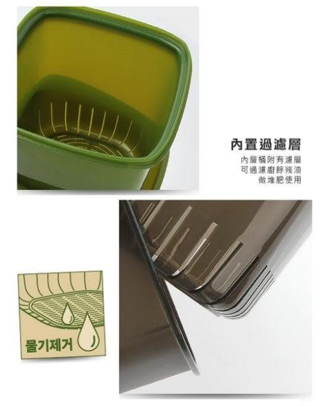 樂扣樂扣廚餘桶回收桶垃圾桶4.8L四面環扣防止異味散出-大廚師百貨