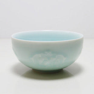 日韓式碗 青瓷五穀豐登餐具