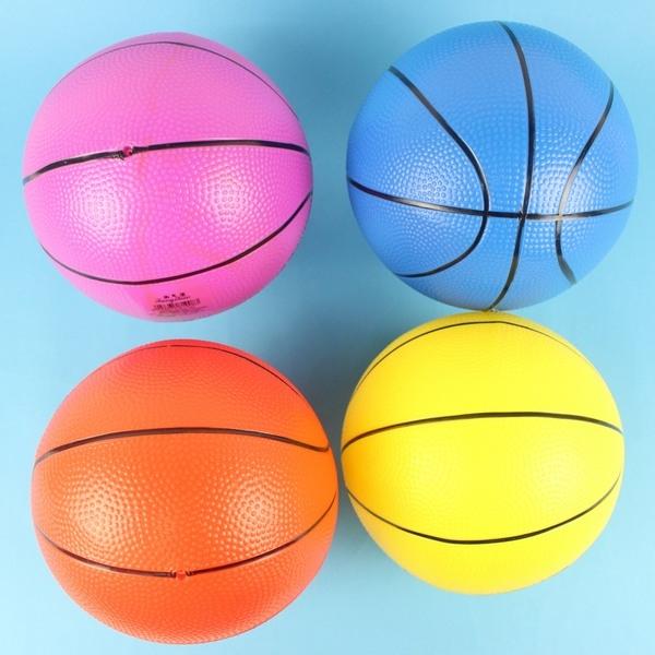 9吋安全籃球 兒童仿藍球 安全玩具球 充氣安全籃球 直徑20cm(加厚)/一個入{促80}~創BB91