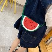 BabyShare時尚孕婦裝 【BAG0082】兒童包包-西瓜造型斜背包