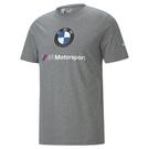 【現貨】PUMA BMW MMS ESS 男裝 短袖 純棉 休閒 印花 灰 歐規【運動世界】59969603