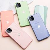 Free Shop 蘋果 iPhone 11/X/8/7/6 全系列 馬卡龍液態矽膠防摔鋼化玻璃手機殼【QAHQ30253】