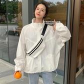 超火cec防曬衣女夏季薄款2019新款韓版寬鬆百搭ins棒球服外套潮衫