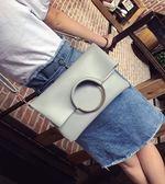 潮子母手提包圓環女包摺疊手拿包側背斜背包女士包包 東京衣櫃