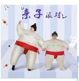 萬聖節衣服 成人兒童相撲大胖子充氣服裝親子萬聖誕節日年會錶演搞笑行走衣服 卡菲婭