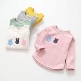 女童打底衫 2020秋季新款兒童打底衫女童小兔長袖T恤圓領插肩袖打底上衣【快速出貨】