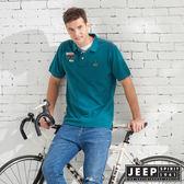 【JEEP】質感品牌刺繡短袖POLO衫-綠