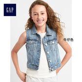Gap女童 舒適純棉直筒牛仔背心 260324-牛仔色