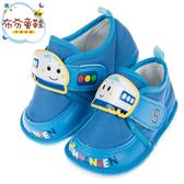 《布布童鞋》三麗鷗新幹線小電車藍色布質寶寶嗶嗶學步鞋(12.5~15公分) [ C9R825B ]