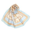 LANVIN希臘風情印花披肩絲巾(水藍色)487999