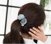 [618好康又一發]髪飾花朵發圈髪繩頭繩韓版頭花馬尾女