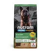 寵物家族-[輸入NT99享9折][效期20210708]紐頓Nutram-T26無穀潔牙犬羊肉2KG
