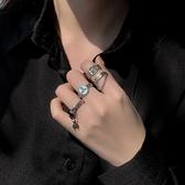 歐美復古戒指女時尚個性ins潮冷淡風開口戒網紅簡約嘻哈食指指環 滿天星