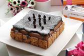 【艾美創意蛋糕】花生長壽城堡14*14公分-咖啡牛奶冰淇淋甜點
