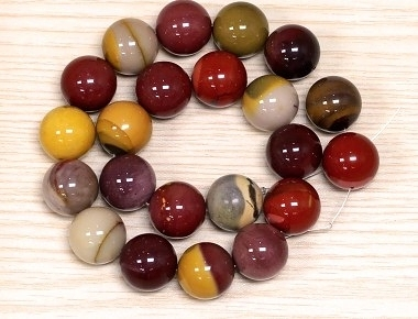 [協貿國際]天然馬雞石散珠14MM29顆圓珠批發價