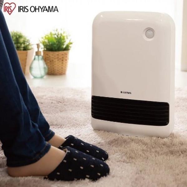 【南紡購物中心】IRIS 防傾倒 人感陶瓷電暖器 JCH-12TD3 (白色)