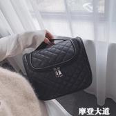 旅行洗漱包簡約防水手提超大容量韓國收納包出差多功能便攜化妝包『摩登大道』