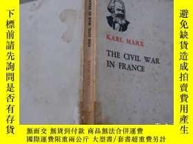 二手書博民逛書店KARL罕見MARX THE CIVL WAR IN FRANC