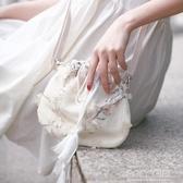 帆布包 包包女2019新款森系小包帆布斜背包中國風仙女荷包漢服古風單肩包 polygirl