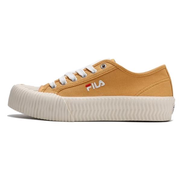 FILA 餅乾鞋 黃 基本款 刺繡 休閒鞋 情侶鞋 男女 (布魯克林) 4C910T991